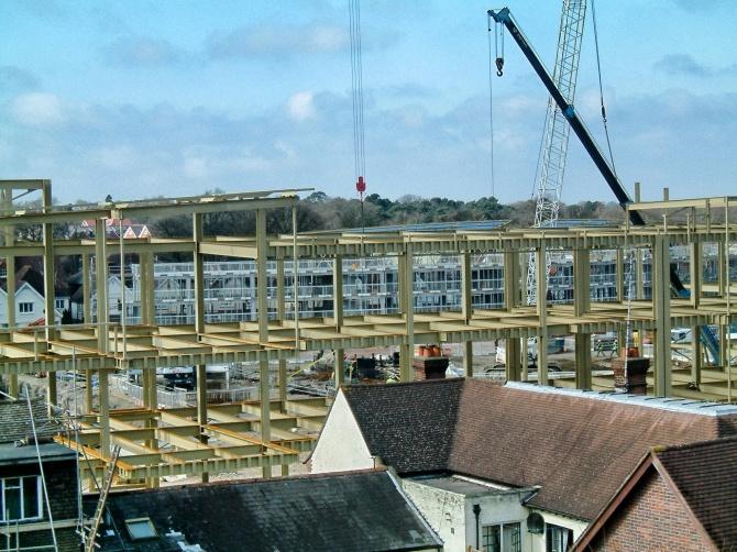 Atrium being built
