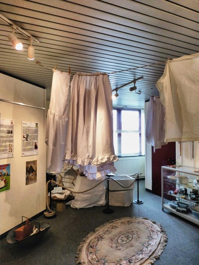 Museum exhibition - hanging washing