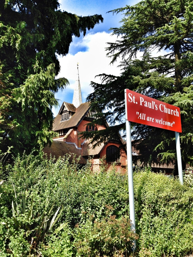 St Paul's Church Camberley from the road