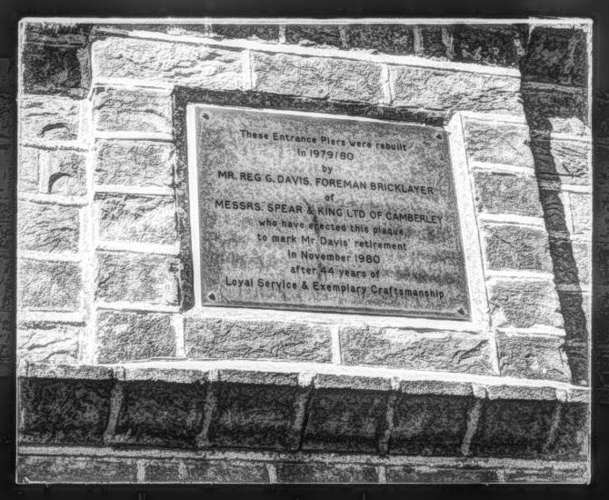 Memorial on gateway Camberley